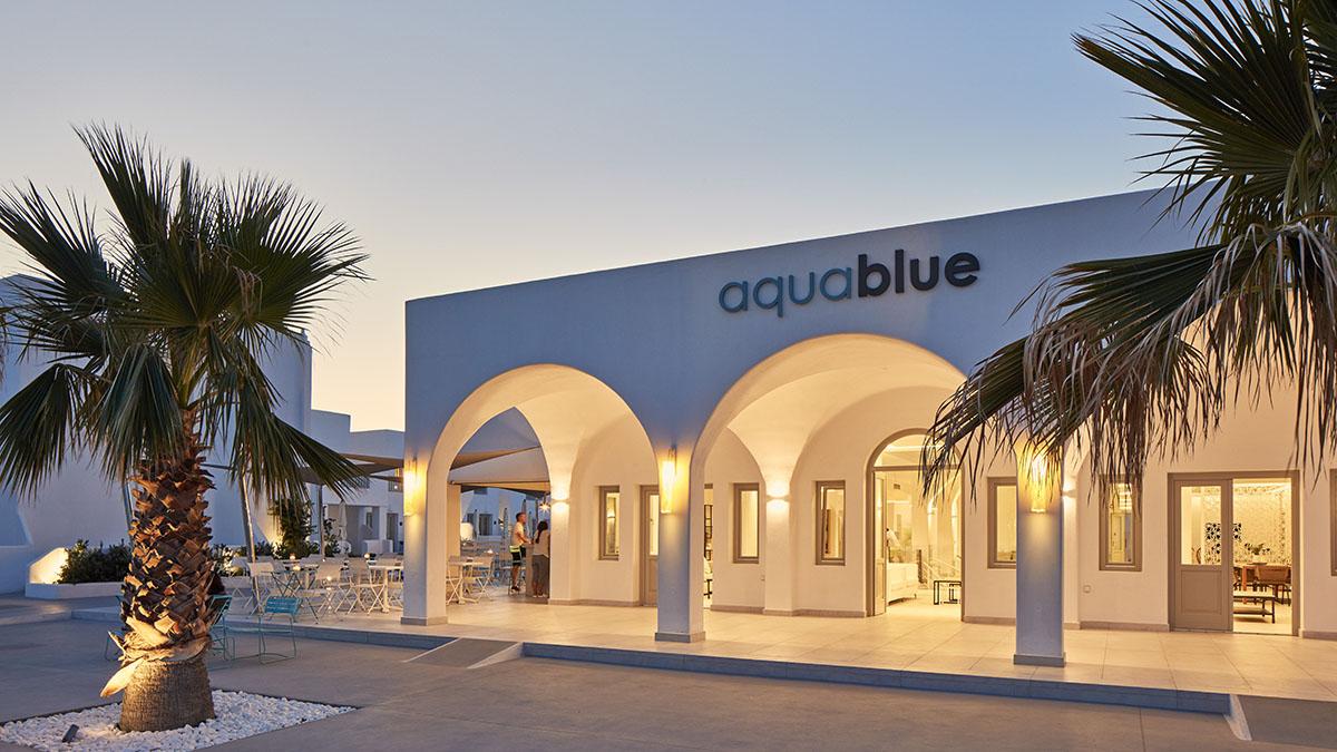 Aqua Blue Hotel Santorini 5 Star Hotel In Greece Santorini