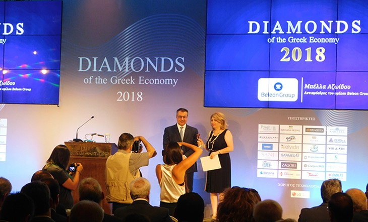 Beleon Group awarded a Diamond of the Greek Economy title
